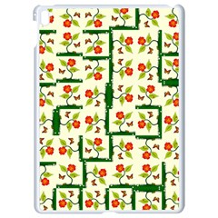 Plants And Flowers Apple Ipad Pro 9 7   White Seamless Case