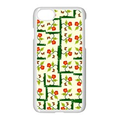 Plants And Flowers Apple Iphone 8 Seamless Case (white)