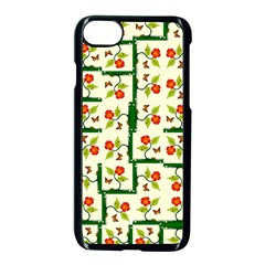 Plants And Flowers Apple Iphone 8 Seamless Case (black)