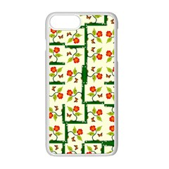 Plants And Flowers Apple Iphone 8 Plus Seamless Case (white)