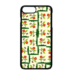 Plants And Flowers Apple Iphone 8 Plus Seamless Case (black)