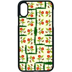 Plants And Flowers Apple Iphone X Seamless Case (black)