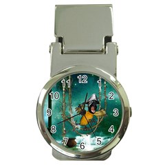 Funny Pirate Parrot With Hat Money Clip Watches