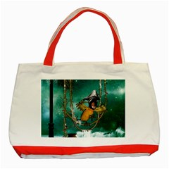 Funny Pirate Parrot With Hat Classic Tote Bag (red)