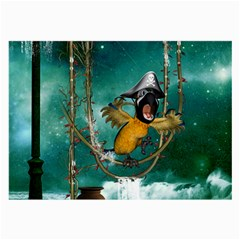 Funny Pirate Parrot With Hat Large Glasses Cloth (2 Side)