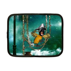 Funny Pirate Parrot With Hat Netbook Case (small)