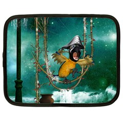 Funny Pirate Parrot With Hat Netbook Case (xl)