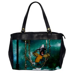 Funny Pirate Parrot With Hat Office Handbags