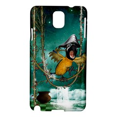 Funny Pirate Parrot With Hat Samsung Galaxy Note 3 N9005 Hardshell Case