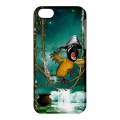 Funny Pirate Parrot With Hat Apple Iphone 5c Hardshell Case