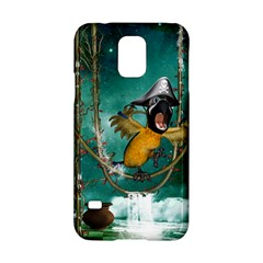 Funny Pirate Parrot With Hat Samsung Galaxy S5 Hardshell Case