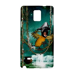 Funny Pirate Parrot With Hat Samsung Galaxy Note 4 Hardshell Case