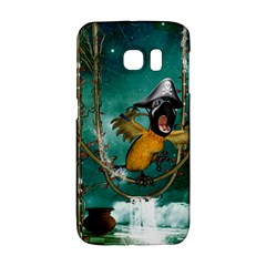 Funny Pirate Parrot With Hat Galaxy S6 Edge