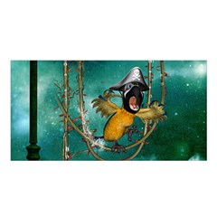 Funny Pirate Parrot With Hat Satin Shawl