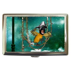 Funny Pirate Parrot With Hat Cigarette Money Cases
