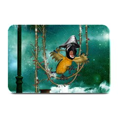 Funny Pirate Parrot With Hat Plate Mats