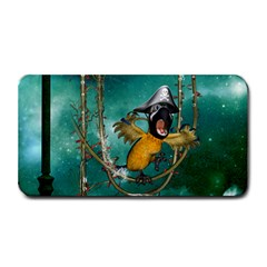 Funny Pirate Parrot With Hat Medium Bar Mats