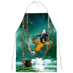 Funny Pirate Parrot With Hat Full Print Aprons
