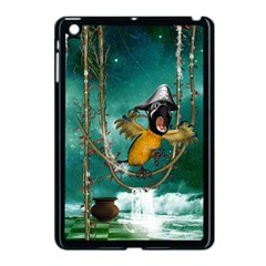 Funny Pirate Parrot With Hat Apple Ipad Mini Case (black)
