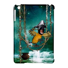 Funny Pirate Parrot With Hat Apple Ipad Mini Hardshell Case (compatible With Smart Cover)