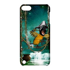 Funny Pirate Parrot With Hat Apple Ipod Touch 5 Hardshell Case With Stand