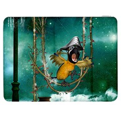 Funny Pirate Parrot With Hat Samsung Galaxy Tab 7  P1000 Flip Case