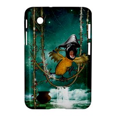 Funny Pirate Parrot With Hat Samsung Galaxy Tab 2 (7 ) P3100 Hardshell Case