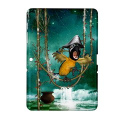 Funny Pirate Parrot With Hat Samsung Galaxy Tab 2 (10 1 ) P5100 Hardshell Case