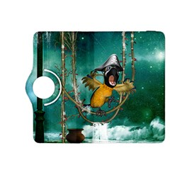 Funny Pirate Parrot With Hat Kindle Fire Hdx 8 9  Flip 360 Case
