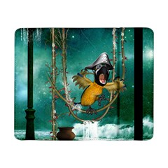 Funny Pirate Parrot With Hat Samsung Galaxy Tab Pro 8 4  Flip Case