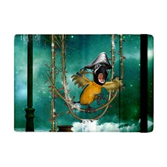 Funny Pirate Parrot With Hat Ipad Mini 2 Flip Cases