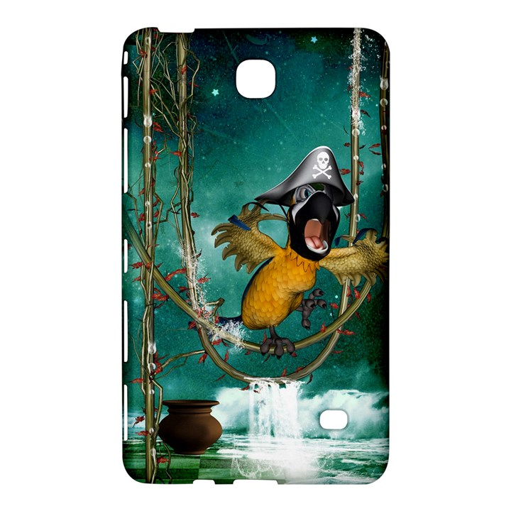 Funny Pirate Parrot With Hat Samsung Galaxy Tab 4 (7 ) Hardshell Case