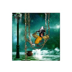 Funny Pirate Parrot With Hat Satin Bandana Scarf