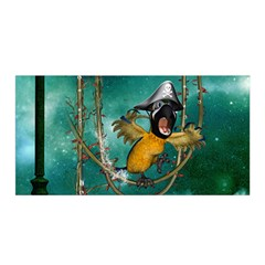 Funny Pirate Parrot With Hat Satin Wrap