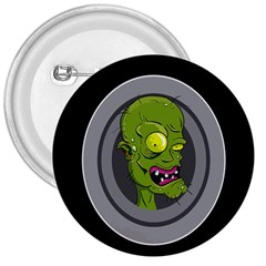 Zombie Pictured Illustration 3  Buttons
