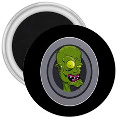 Zombie Pictured Illustration 3  Magnets