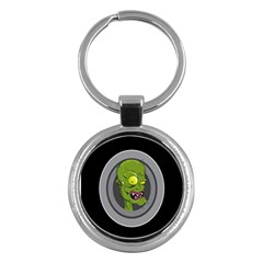 Zombie Pictured Illustration Key Chains (round)