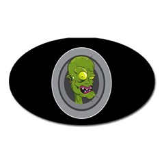 Zombie Pictured Illustration Oval Magnet