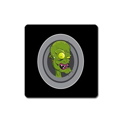 Zombie Pictured Illustration Square Magnet