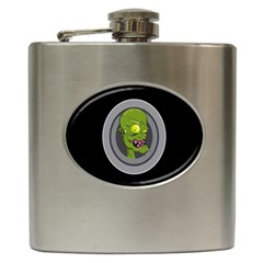Zombie Pictured Illustration Hip Flask (6 Oz)
