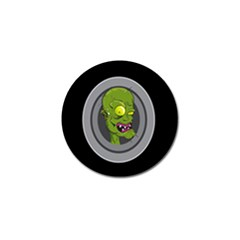 Zombie Pictured Illustration Golf Ball Marker
