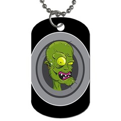 Zombie Pictured Illustration Dog Tag (two Sides)