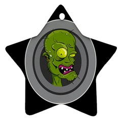 Zombie Pictured Illustration Star Ornament (two Sides)