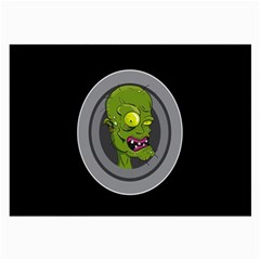 Zombie Pictured Illustration Large Glasses Cloth