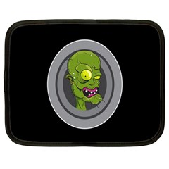 Zombie Pictured Illustration Netbook Case (large)