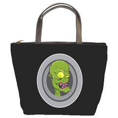 Zombie Pictured Illustration Bucket Bags