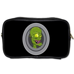 Zombie Pictured Illustration Toiletries Bags 2 Side