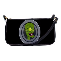 Zombie Pictured Illustration Shoulder Clutch Bags