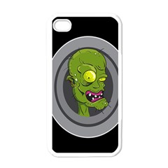 Zombie Pictured Illustration Apple Iphone 4 Case (white)