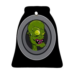 Zombie Pictured Illustration Ornament (bell)